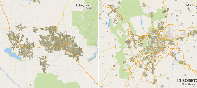 Urban Footprint: Boise vs. The World